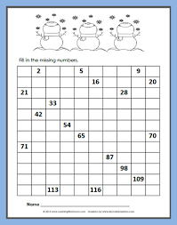 Free 120 Chart Free Winter 120 Number Chart Fill In Math Resources