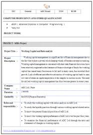 resume with mba template - Mba Resume Format For Freshers