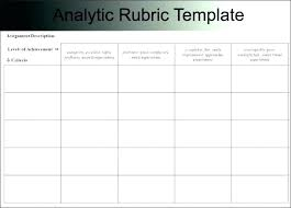 Rubric Template Microsoft Word Science Rubric Template