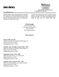 salary history letter resume with salary history example examples of resumes