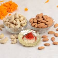 roli chawal with orted dryfruits