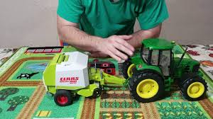 bruder farm toy review claas rollant 250 round baler