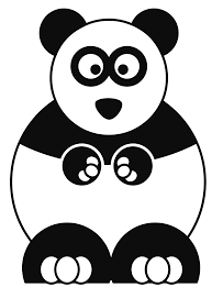 Small Picture Coloring Pages Draw A Cartoon Panda For ijigenme