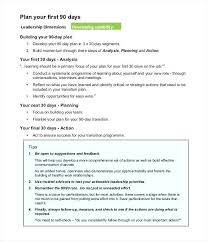 The First 90 Days Template Example Of A 30 60 Day Plan For