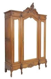 beautiful french antique louis xv 3 door walnut armoire antique english wardrobe armoire