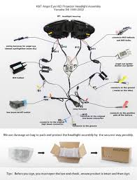 wiring diagram projector headlights wiring image yamaha yzf r6 1999 2002 hid projectors led headlight assembly on wiring diagram projector headlights