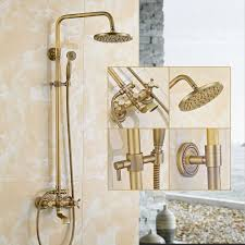 Auralum Messing Duschsystem überkopfbrause Regendusche