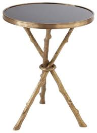 twig branch tripod accent table brass gold black granite organic shape transitional side tables and end tables by my sy home