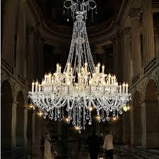 image of big crystal chandelier table lamp