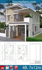 4 Storey House Design With Rooftop House Plans 7x12m With 4 Bedrooms Plot 8x15 House Design