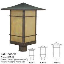 Arroyo Craftsman Post Lights Arroyo Craftsman Kap Katsura Asian Outdoor Post Light Mount