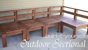 Marvelous Homemade Patio Sectional More Like Home 2x4 Outdoor Sectional