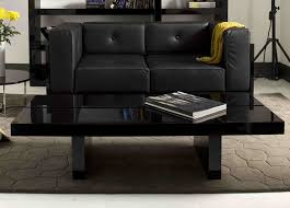 coffee table black square glass modern large coffee table black leather square modern sofa square
