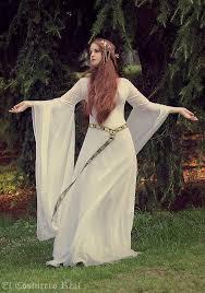 celtic wedding dress galadriel costume elvish medieval pre