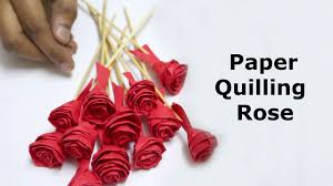 Paper Quilling Rose Flower Basket Paper Quilling Rose Flowers Step By Step Youtube