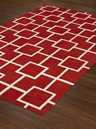best rectangle if modern lava rug in red with white checked motif by dalyn rugs for floor with floor runner rugs