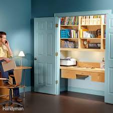 office in a wardrobe. Top How To Turn A Closet Into An Office The Family Handyman With Desk Wardrobe Units. In