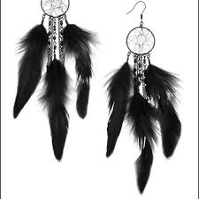 Dream Catcher Earing HM HM Black Feather Dreamcatcher Earrings from Janet's closet 28