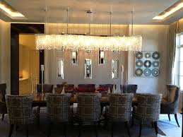 Rectangular Crystal Chandelier Dining Room Gallery With - Dining room lighting trends
