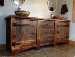 Antique Rustic Bathroom Vanities Furniture WALLOWAOREGONCOM