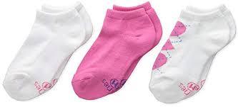 Hanes Ultimate Girls 3 Pack Low Cut Fashion Socks