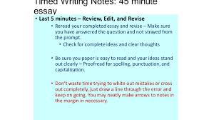 edit essay how to edit or proof an essay or paper steps the  timed writing notes minute essay essay guidelines structuring timed writing notes 45 minute essay last 5