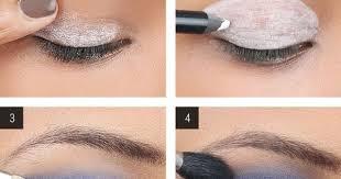 blue smokey eyes diy makeup tutorial