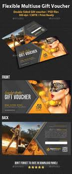 multi use business gift voucher template design gift certificate booklets