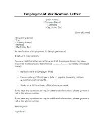 Confirmation Of Employment Letter Confirmation Of Employment Letter Template Verification New