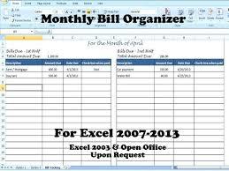 Bill Tracker Template Excel Tracking Spreadsheet Home Bills – Rigaud