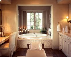 bathroom designs luxurious: luxury bathroom with mood lighting and enclosed soaker tub room with window and massage table