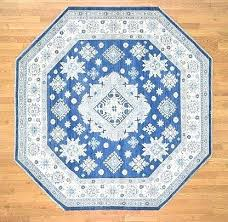 octagonal rug hand woven blue and ivory octagon shaped rugs uk