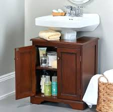 storage under pedestal sink storage solutions pedestal sink