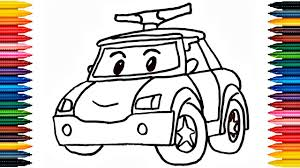 drawing car how to draw police car picture coloring book police car robocar poli