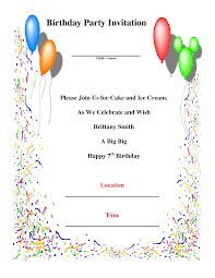 party invitation card template com invitation birthday template birthday invitation templates