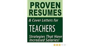Proven Resumes Manual Proven Resumes Cover Letters For Teachers