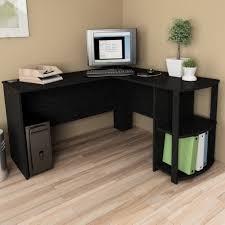 home office desk black. Solid Wood L Shaped Desk Black Home Office