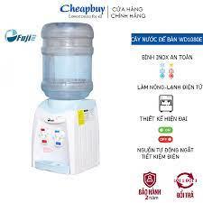 Cây nước nóng lạnh mini để bàn nhập khẩu FUJIE WD1080E CN NHẬT BẢN - 2 vòi nóng  lạnh- Bảo hành 2 năm - Máy nước nóng