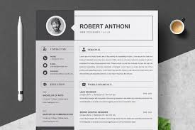 2 Pages Resume Template Cv Design Cover Letter Templates