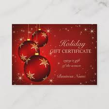 Holiday Gift Certificates Holiday Season Gift Certificate