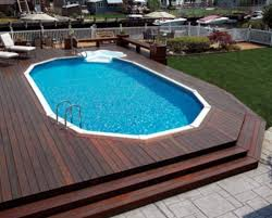 above ground pools with decks large pool deck cascading steps lfpeqbm huge t39