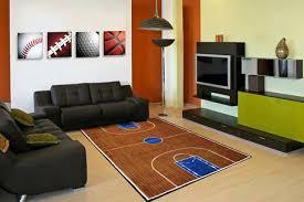 fun rugs rectangle multi colored basketball court nylon kids rug image 2 of 2