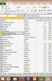 How To Make A Grocery List Using Excel To Make A Master Shopping List Maggies Milk