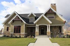 craftsman style front doorRanch style home interior exterior craftsman with exterior stone