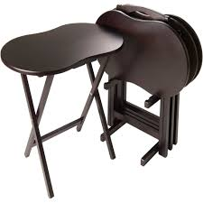 skippy piece tv table set peanut top espresso  walmartcom