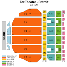 fox theatre detroit seating chart