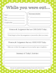 Homework Sheet Template For Teachers Free Printable High School And College Course Assignment Planner