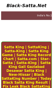 Satta King Record Chart Result Gali Black Satta Net Seo Report Seo Site Checkup