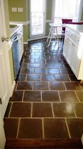 Super Sealed 12x12 Manganese Saltillo Mexican Terracotta Floor Tile    Supplied By Rustico Tile And Stone, Leander TX