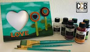 wooden frame tattered angels color wash paint tutorial